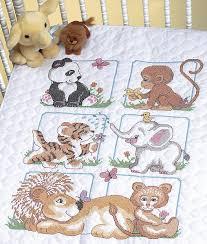 Cross Stitch Quilt Kits - Quilting-Warehouse & Animal Babies Stamped Cross Stitch Quilt Kit Adamdwight.com
