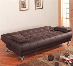 contemporary leather sofa sleeper. furniture, inspiring innovation brown leather sofa bed design ideas with tufted style suitable for your contemporary sleeper f