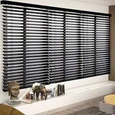 black brown wooden blinds
