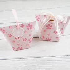 Light Pink Gift Bags Us 7 0 10pcs Light Pink Sakura Cherry Blossom Paper Box Candy Storage Boxes Gift Packaging Wedding Birthday Party Favor Box Multi Use In Gift Bags