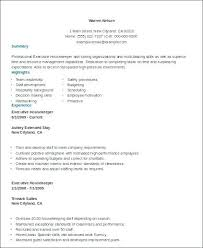 Sample Housekeeping Resume Sample Executive Housekeeper Resume