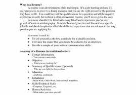 resume job experience order