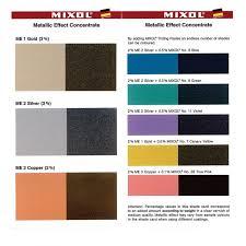 Mixol Tint Color Chart Mixol Metallic Tints