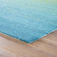 jaipur living blaze indoor outdoor ombre blue lime green area rug 7