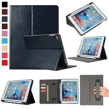 Ipad Pro 97 Case With Pencil Holder Inspiration Smart Case For IPad 6060 With Apple Pencil Holder And Card Slots