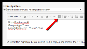 Make The Image In Your Gmail Signature A Working Hyperlink