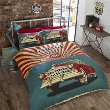 image is loading vintage car american flag route 66 red cream