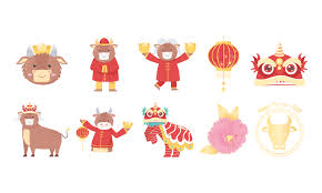 Select a color from the icon. Chinese New Year Of The Ox Icon Set Download Free Vectors Clipart Graphics Vector Art