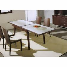set black living room dining room exquisite modern design using white leather entrancing decoration rectangular extendable glass table including wooden