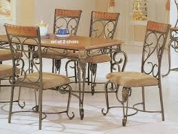 wrought iron dining room table and chairs unusual prime 5 on wrought iron dining