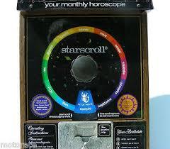 Starscroll Horoscope Vending Machine Magnificent Vtg Deluxe Starscroll Horoscope Vending Machine W Key W 48