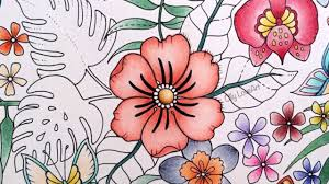 colored pictures of flowers.  Pictures How I Color Flowers In The Magical Jungle Coloring Book  Selva Magica   YouTube In Colored Pictures Of Flowers