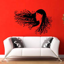 girl music notes in hair wall vinyl decal sticker wall decor home interior design art on wall art murals vinyl decals stickers with girl music notes in hair wall vinyl decal from wisdomdecals on