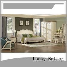 <b>elegant white wooden</b> bed frame double series for hotel | Lucky Better