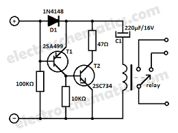 low current relay switch circuit 12v relay switch low current relay schematic
