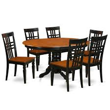 get ations east west furniture kelg7 bch w 7piece dinette set with one kenley table
