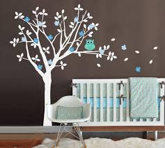 image of nursery wall decals birch trees