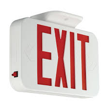 Exit Sign Lighting Requirements Emergency Lighting And Exit Signs Hubbell Lighting Cer