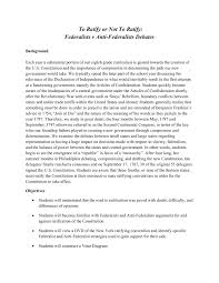 Federalists And Anti Federalists Venn Diagram To Ratify Or Not To Ratify Federalists V Anti Federalists