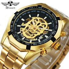 WINNER New <b>Fashion</b> Mechanical Watch <b>Men</b> Skull Design Top ...