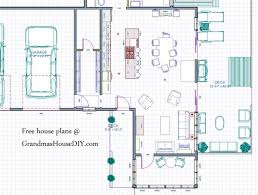 ideas about Free House Plans on Pinterest   House plans     Free house plan of a three bedroom ranch style house   a party deck and master