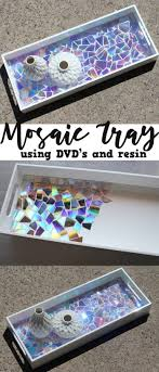 inventive use of dvds in a mosaic diy project