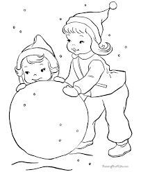 Small Picture snow fun picture to color