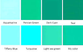 Aqua Color Chart Teal Color Chart Green Gray And Schemes Not Another Wedding