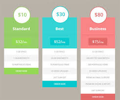 Pricing Table Templates 15 Best Free Html5 Css3 Pricing Tables Templates 2019