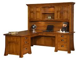 amish fairfield mission l desk with optional topper