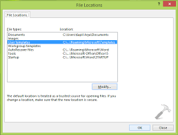 How To Change Custom Office Templates Folder Location In