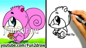 Small Picture How to Draw a Cartoon Squirrel in 2 min Drawing Step by Step