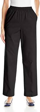 All Around Elastic Waist Cotton Medium <b>Twill Pants</b> at Amazon ...
