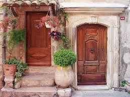 Medieval Doors european photo of doors and flowers in venceprovence france by 2977 by xevi.us