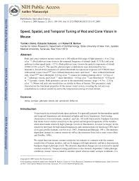 Speed Vision Lights Out 10 Pdf Speed Spatial And Temporal Tuning Of Rod And Cone