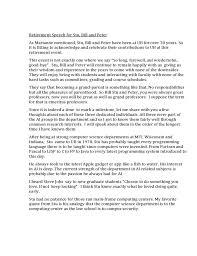 Retirement Speech Example Amazing Retirement Speech Sample Free Download