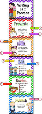 Writing Process Clip Chart Paragraphs In The Writing Process Primary Flourish
