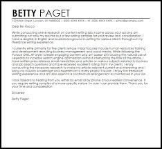 Content Writer Cover Letter Sample Brilliant Ideas Of Cover Letter