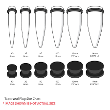 Plug Size Chart After 1 Inch Bodyj4you Plugs And Tapers Gauges Kit Ear 12pc Stretching Set Double Flare Screw Fit Acrylic 4g 14mm