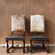 colton cowhide chair western lodge cowhide dining chair