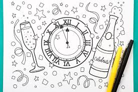 Download our free ecard app. Printable New Year S Eve Coloring Page Hey Let S Make Stuff