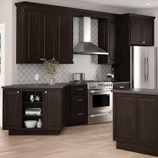 Espresso Cabinets Kitchen Design Hampton Bay Designer Series Gretna Assembled 36x18x12 In Wall Bridge Kitchen Cabinet In Espresso