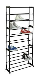 Home Basics 10 Tier Coated Non Woven Shoe Rack 100Tier Slim Shoe Tower 100 Pairs Linen Store 51