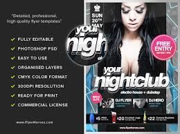 club flyer templates free psd nightclub party flyer template