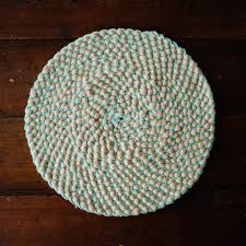 How To Knit A Rug Chunky Knit Circular Rug Made From 100 Merino Wool Chic Basta