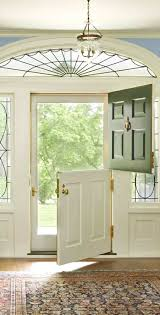 a dutch door with no glass is also a good idea if you have glass inserts