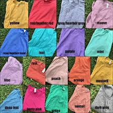 Color Chart For Clothes Color Chart Gabriel Clothing Company