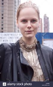 no makeup beauty portrait of fashion model during new york fashion week