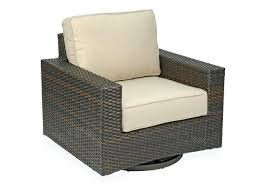 aluminum woven resin wicker swivel glider club chair outdoor lounge