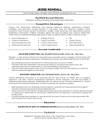 Cover Letter Sample Advertising Manager Resume Advertising Account